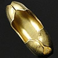 Slotje voor balletjes ketting bras goud